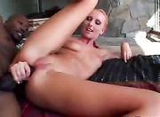 slutty blonde milf enjoys