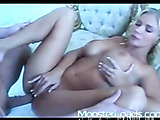 sultry blonde goddess shows her love for hot cum facial