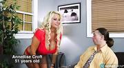 curly blonde gilf gets