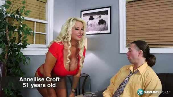 Curly blonde GILF gets fucked on a leather couch - Porn Video at XXX  Dessert Tube
