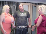 Two naughty women with large bumpers got themselves a long meat stick.