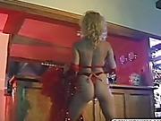 amazing blonde dances the