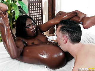 first-class ebony gives sucks