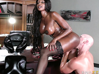godlike ebony boss fucks