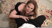 black dress milf sucking