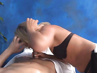 lovely masseuse enjoys serving