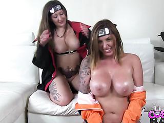 two lesbian naruto fans