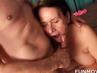 pink lingerie brown-haired mature