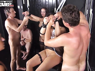slaves eating pussy and
