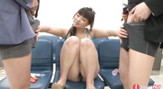 shy asian babe blowing