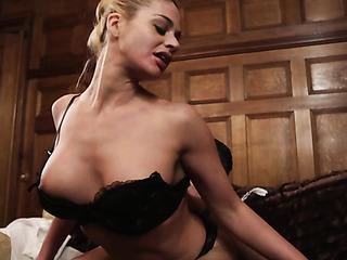 big-boobed blonde milf gives