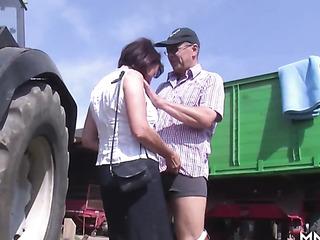 farmer banged big-ass mature