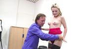 secretary with pierced puss