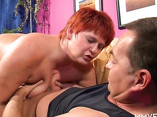 fat redhead mature fucks