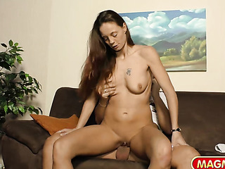 long-haired milf with round