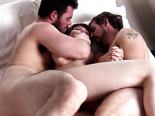 two bisexual men bangs