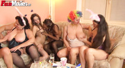 insane all-girl orgy featuring