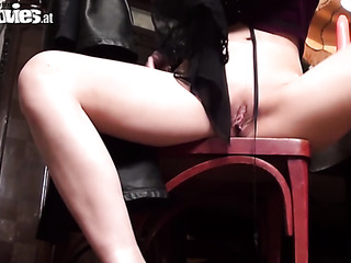 black panties mature brunette