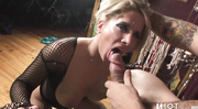 fishnet bodysuit blonde gets