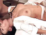 Intensive sex in the ward with a brunette nurse