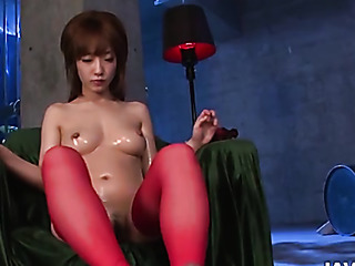 amazing japanese stocking footjob