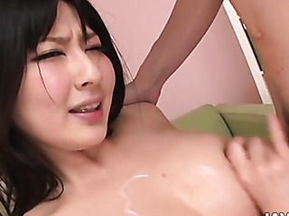 lucky big tits asian