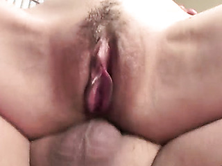 horny pink pussy close
