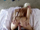 Long hair up shaved pussy fuck