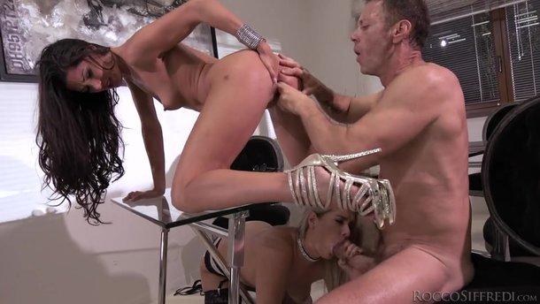 Busty Mature Anal Stockings