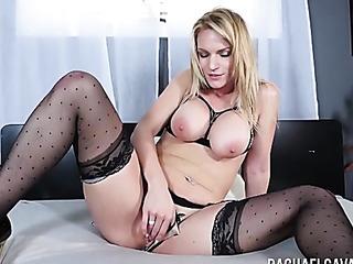 big tits stocking milf
