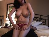Natural tits busty amateur girlfriend