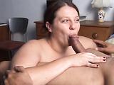 Hardcore chubby loving blowjob