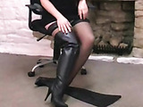 English in leather boots