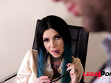 Secretary caught masturbating at work then fucked hard by boss