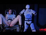 Bondage during erotic Star Wars parody