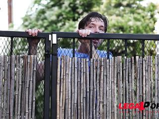 peeping tom spies gal