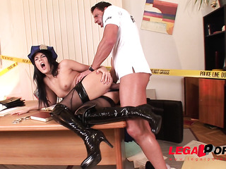 hungarian lady cop fucked