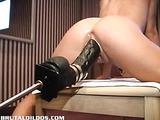 Jessy fucked hard by a brutal dildo machine