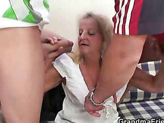 drunken granny takes dick