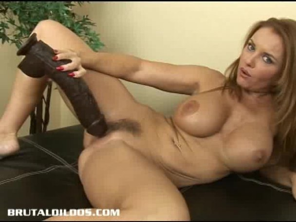 Huge black dildo video
