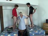 She cleans their apartment a