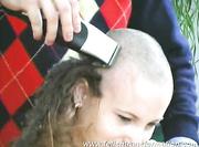 petra having hair cut