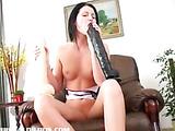 Belicia pounding a big dildo