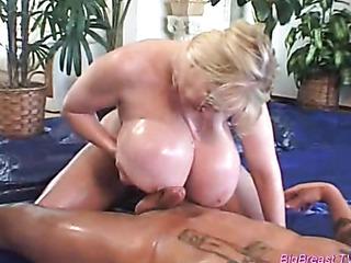 huge tits rubbing cock