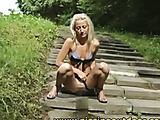 Janna pisses on a ladder