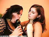 Hot lesbos having strap on sex