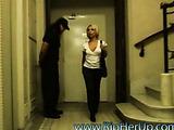 Sexy blonde gets violently