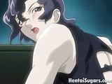 Elegant brunette hentai