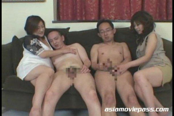Asian mature group sex with black men 6