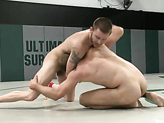 two muscular naked